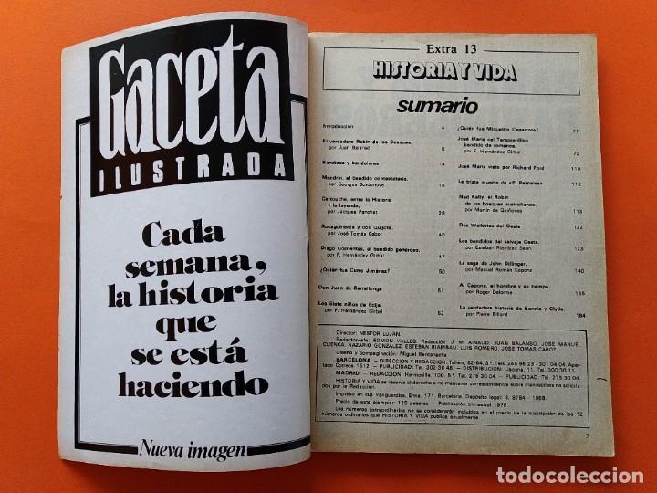 Coleccionismo de Revista Historia y Vida: HISTORIA Y VIDA EXTRA Nº 13 - BANDIDOS Y BANDOLEROS - 1978...L2469 - Foto 2 - 223201368