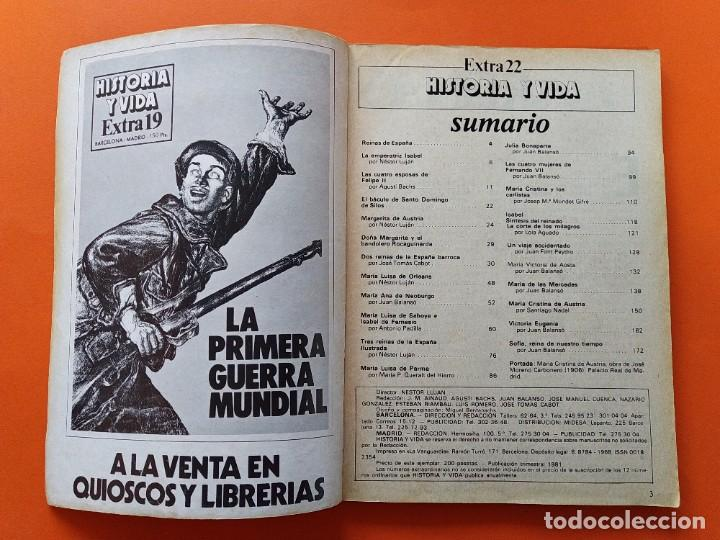 Coleccionismo de Revista Historia y Vida: HISTORIA Y VIDA EXTRA Nº 22 - REINAS DE ESPAÑA - 1981...L2473 - Foto 2 - 223203876