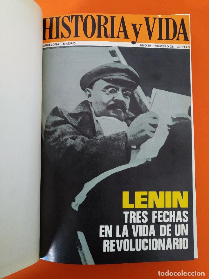 """Coleccionismo de Revista Historia y Vida: REVISTA - """"HISTORIA Y VIDA"""" ENCUADERNADA - 5 - AÑO III - Nº ( 25 AL 30 ) - AÑO 1970...L2515 - Foto 3 - 223902027"""
