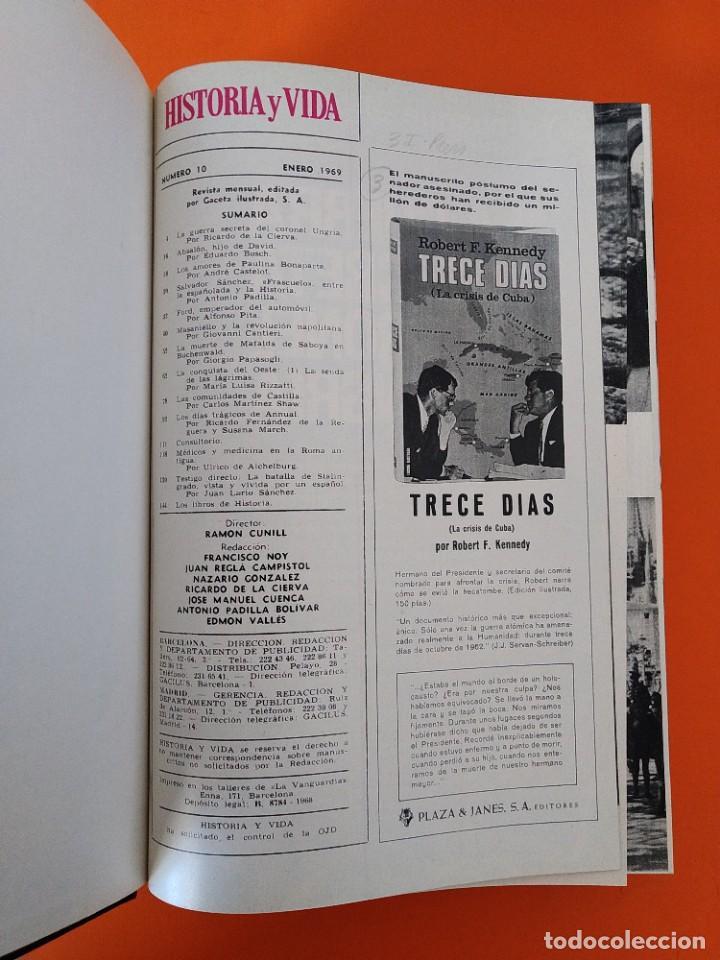 """Coleccionismo de Revista Historia y Vida: REVISTA - """"HISTORIA Y VIDA"""" AÑO 1969 - DOS TOMOS ENCUADERNADOS - Nº (10 AL 21) ...L2516 - Foto 7 - 223904330"""