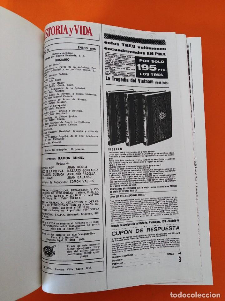 """Coleccionismo de Revista Historia y Vida: REVISTA - """"HISTORIA Y VIDA"""" AÑO 1970 - DOS TOMOS ENCUADERNADOS - Nº (22 AL 33) ...L2517 - Foto 3 - 223904903"""