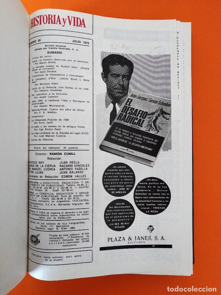 """Coleccionismo de Revista Historia y Vida: REVISTA - """"HISTORIA Y VIDA"""" AÑO 1970 - DOS TOMOS ENCUADERNADOS - Nº (22 AL 33) ...L2517 - Foto 7 - 223904903"""