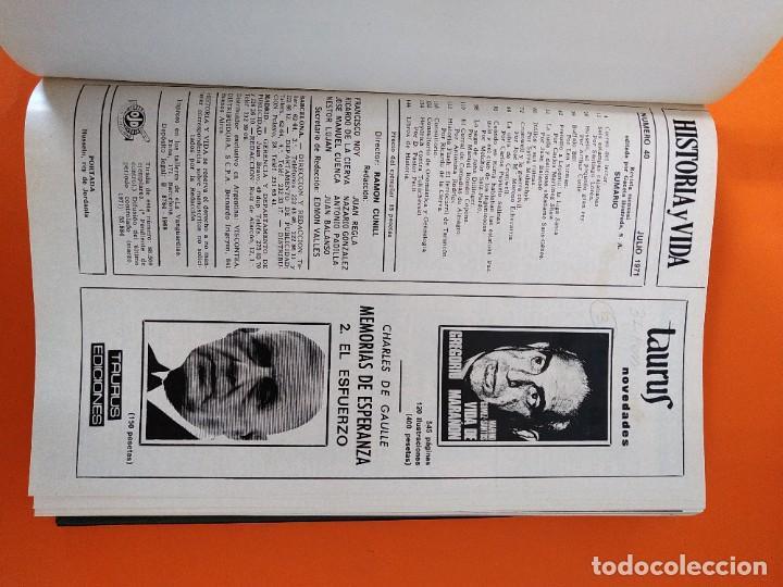 """Coleccionismo de Revista Historia y Vida: REVISTA - """"HISTORIA Y VIDA"""" AÑO 1971 - DOS TOMOS ENCUADERNADOS - Nº (34 AL 45) ...L2518 - Foto 8 - 223905172"""