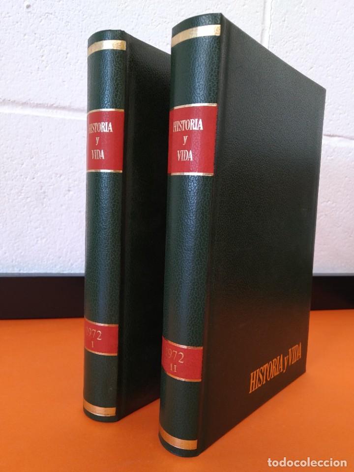"""REVISTA - """"HISTORIA Y VIDA"""" AÑO 1972 - DOS TOMOS ENCUADERNADOS - Nº (46 AL 57) ...L2519 (Coleccionismo - Revistas y Periódicos Modernos (a partir de 1.940) - Revista Historia y Vida)"""