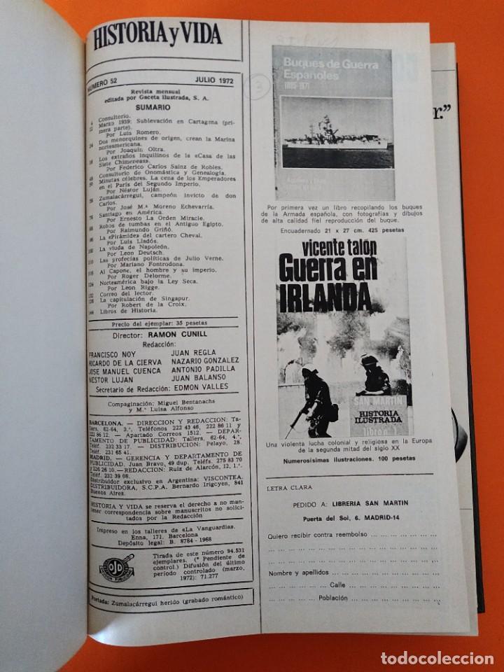 """Coleccionismo de Revista Historia y Vida: REVISTA - """"HISTORIA Y VIDA"""" AÑO 1972 - DOS TOMOS ENCUADERNADOS - Nº (46 AL 57) ...L2519 - Foto 7 - 223905653"""