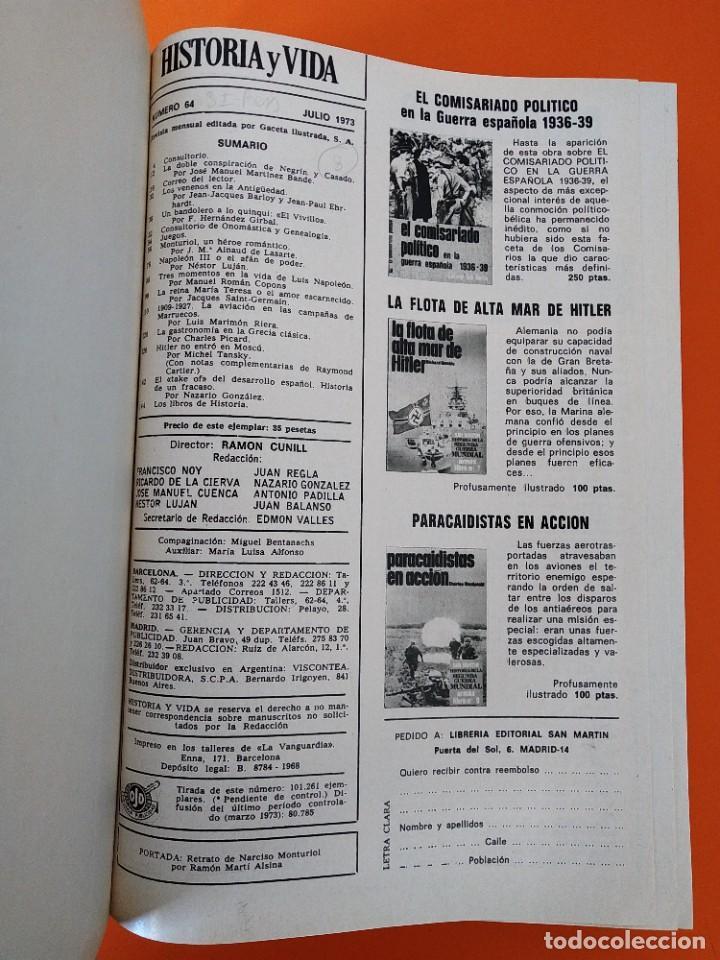"""Coleccionismo de Revista Historia y Vida: REVISTA - """"HISTORIA Y VIDA"""" AÑO 1973 - DOS TOMOS ENCUADERNADOS - Nº (58 AL 69) ...L2520 - Foto 7 - 223905906"""