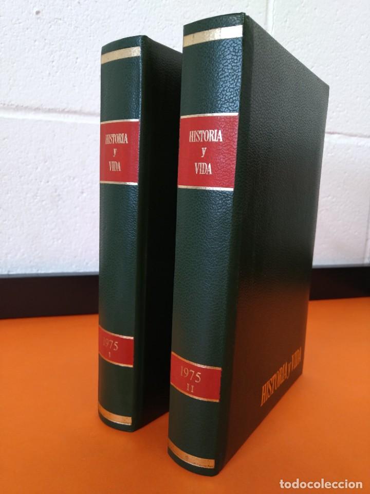 """REVISTA - """"HISTORIA Y VIDA"""" AÑO 1975 - DOS TOMOS ENCUADERNADOS - Nº (82 AL 93) ...L2522 (Coleccionismo - Revistas y Periódicos Modernos (a partir de 1.940) - Revista Historia y Vida)"""