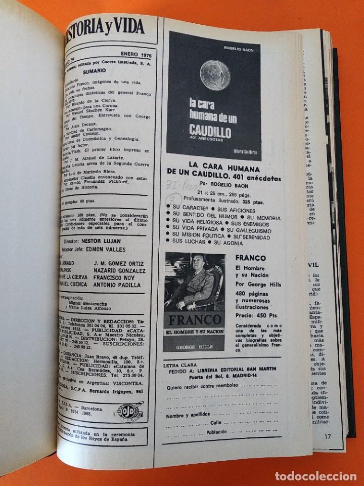 """Coleccionismo de Revista Historia y Vida: REVISTA - """"HISTORIA Y VIDA"""" AÑO 1976 - DOS TOMOS ENCUADERNADOS - Nº (94 AL 105) ...L2523 - Foto 3 - 223907393"""