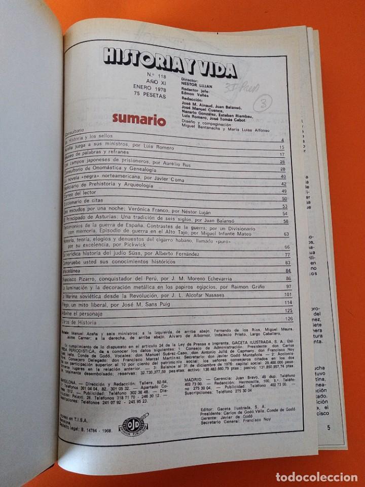 """Coleccionismo de Revista Historia y Vida: REVISTA - """"HISTORIA Y VIDA"""" AÑO 1978 - DOS TOMOS ENCUADERNADOS - Nº (118 AL 129) ...L2524 - Foto 2 - 223907723"""