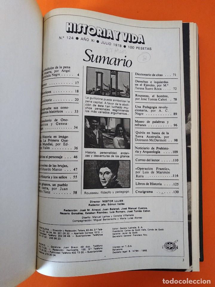 """Coleccionismo de Revista Historia y Vida: REVISTA - """"HISTORIA Y VIDA"""" AÑO 1978 - DOS TOMOS ENCUADERNADOS - Nº (118 AL 129) ...L2524 - Foto 7 - 223907723"""
