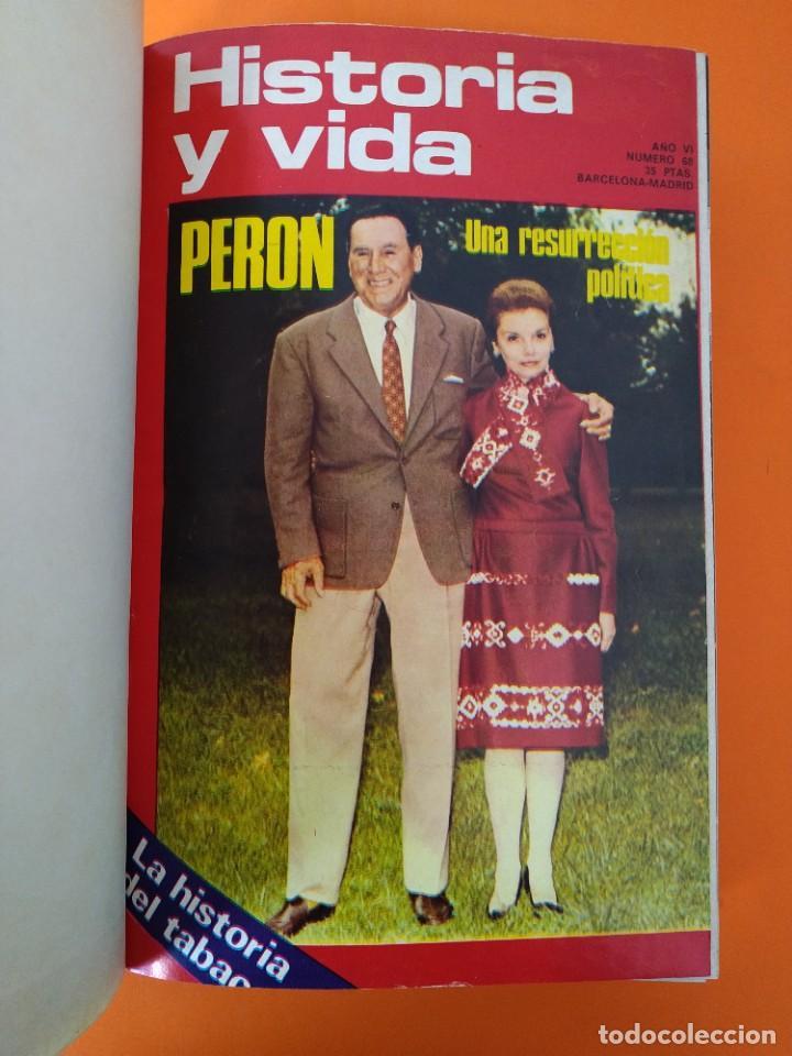 """Coleccionismo de Revista Historia y Vida: REVISTA - """"HISTORIA Y VIDA"""" ENCUADERNADOS - Nº (68 AL 73) + 52 - AÑO 1973/74 + 1972 - RARO ...L2525 - Foto 3 - 223908985"""