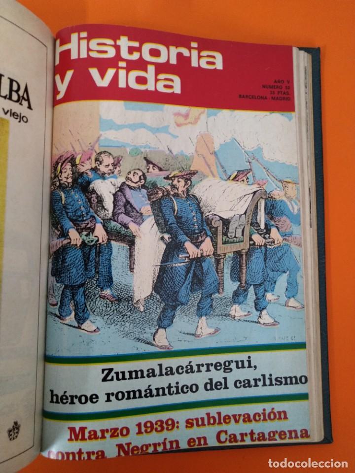 """Coleccionismo de Revista Historia y Vida: REVISTA - """"HISTORIA Y VIDA"""" ENCUADERNADOS - Nº (68 AL 73) + 52 - AÑO 1973/74 + 1972 - RARO ...L2525 - Foto 7 - 223908985"""