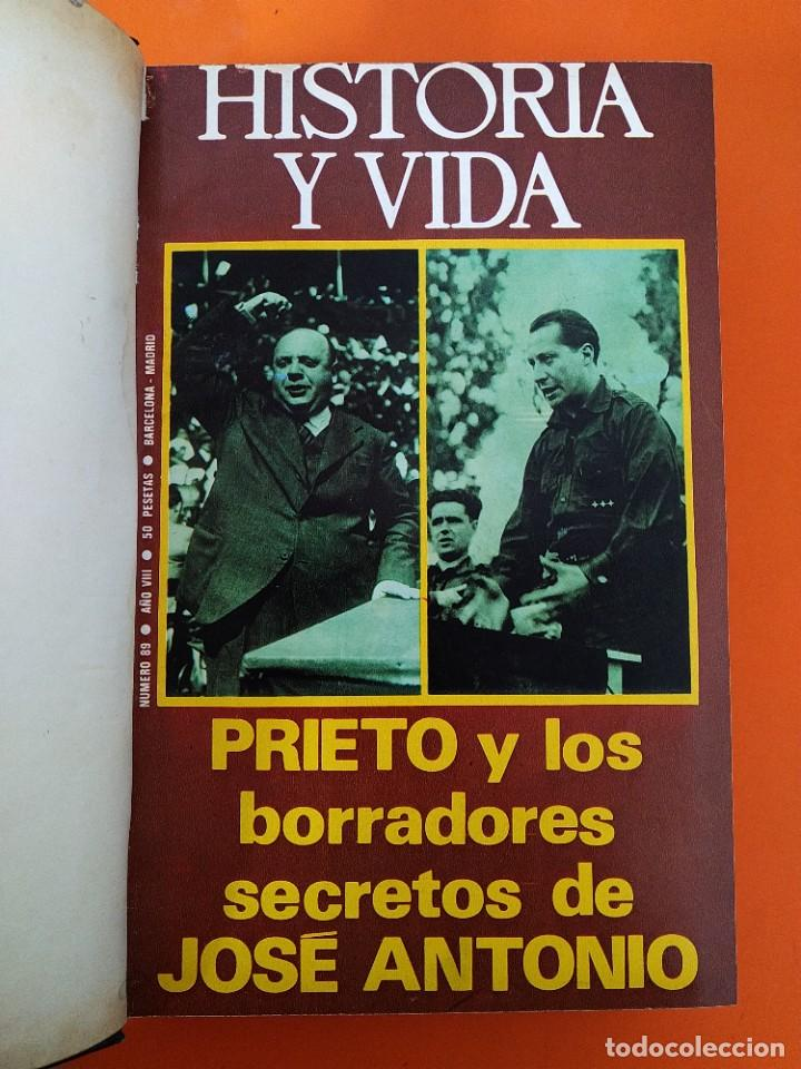 """Coleccionismo de Revista Historia y Vida: REVISTA - """"HISTORIA Y VIDA"""" 6 NUMEROS ENCUADERNADOS - Nº (89 AL 94) - AÑO 1975/76 ...L2526 - Foto 3 - 223909557"""
