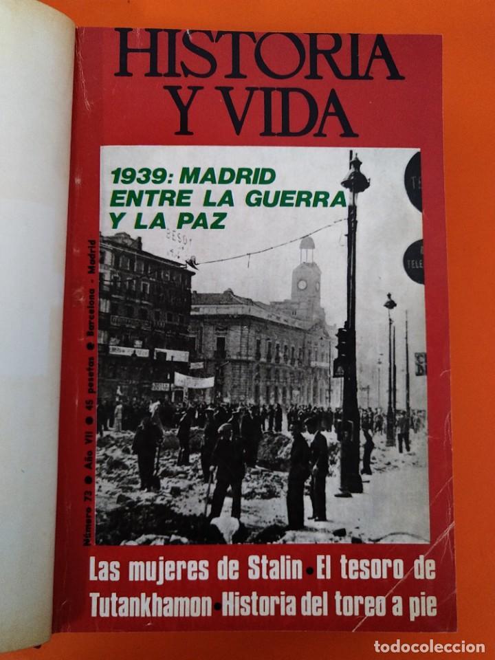 """Coleccionismo de Revista Historia y Vida: REVISTA - """"HISTORIA Y VIDA"""" - ENCUADERNADOS - Nº (73 AL 80) - AÑO 1974 ...L2528 - Foto 3 - 223910925"""