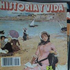 Colecionismo da Revista Historia y Vida: REVISTA HISTORIA Y VIDA Nº 245 EL TURISMO RANCIO. GIORGIONE. HORCHATAS Y CHUFAS. Lote 226262775
