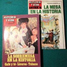 Coleccionismo de Revista Historia y Vida: HISTORIA Y VIDA. NÚMEROS EXTRAS 9 Y 17. COCINA, GASTRONOMÍA, VINOS. Lote 227963070