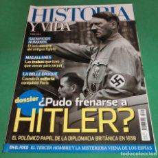 Coleccionismo de Revista Historia y Vida: HISTORIA Y VIDA Nº 618- ¿PUDO FRENARSE A HITLER? (COMO NUEVA). Lote 229594045