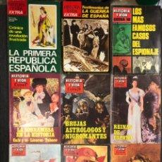 Coleccionismo de Revista Historia y Vida: LOTE DE 9 REVISTAS EXTRA 3/4/10/17/20/22/23/24/30 HISTORIA Y VIDA.. Lote 235842900