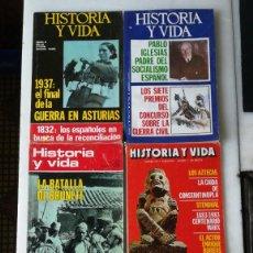 Coleccionismo de Revista Historia y Vida: LOTE DE 18 REVISTAS HISTORIA Y VIDA. VER IMÁGENES. Lote 235956590