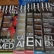 Coleccionismo de Revista Historia y Vida: PACK SIETE REVISTAS: HISTORIA Y VIDA. Lote 236107365