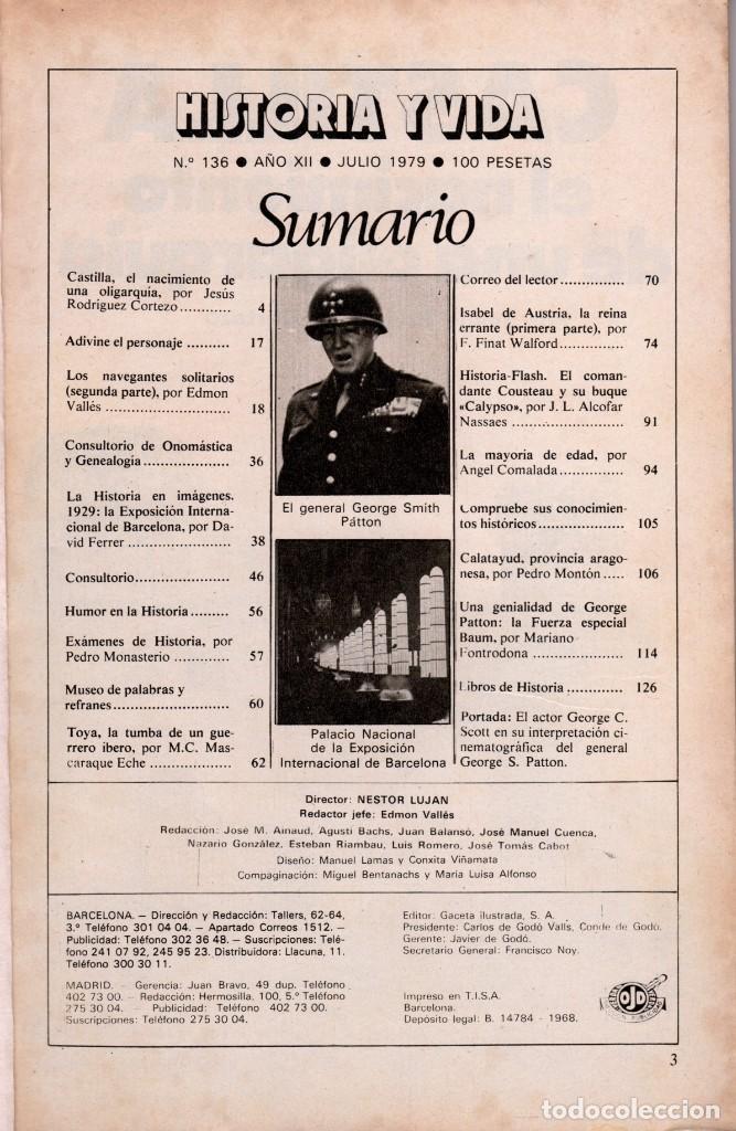 Coleccionismo de Revista Historia y Vida: LOTE DOS REVISTAS HISTORIA Y VIDA Ns135,136 AÑO 1979,GEORGE PATTON Y W. CHURCHILL - Foto 3 - 241548460