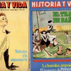 Coleccionismo de Revista Historia y Vida: LOTE DOS REVISTAS HISTORIA Y VIDA NS 127 Y 149 OCTUBRE 78 AGOSTO 80 EL GUANTE Y EL TRAJE DE BAÑO. Lote 241551520