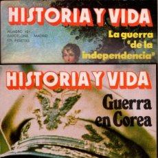 Coleccionismo de Revista Historia y Vida: LOTE 2 REVISTAS HISTORIA Y VIDA NS 151 Y 152 GUERRA DE COREA Y GUERRA INDEPENDENCIA-SUMARIOS EN FOTO. Lote 241555355
