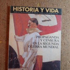 Coleccionismo de Revista Historia y Vida: HISTORIA Y VIDA PROPAGANDA Y CENSURA EN LA SEGUNDA GUERRA MUNDIAL DEL AÑO 1996 Nº 344. Lote 242266900