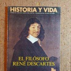 Coleccionismo de Revista Historia y Vida: HISTORIA Y VIDA EL FILÓSOFO RENÉ DESCARTES DEL AÑO 1996 Nº 341. Lote 242267380