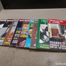 Coleccionismo de Revista Historia y Vida: REVISTAS....LOTE DE 9 REVISTAS ..HISTORIA Y VIDA..... Lote 242469865