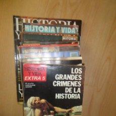 Coleccionismo de Revista Historia y Vida: HISTORIA Y VIDA - LOTE DE 14 NUMEROS EN SU MAYORIA Nº EXTRAS - DISPONGO DE MAS REVISTA. Lote 244812845