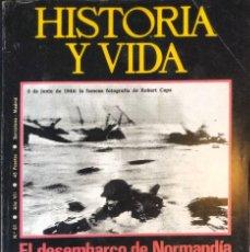 Coleccionismo de Revista Historia y Vida: REVISTA HISTORIA Y VIDA - Nº 81- AÑO VII - DICIEMBRE 1.974 - EL DESEMBARCO DE NORMANDÍA -. Lote 245627135