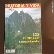 Coleccionismo de Revista Historia y Vida: LOS PIRINEOS.ESCENARIO HISTÓRICO. HISTORIA Y VIDA Nº 81. EXTRA. 1996.EL VALLE DEL RONCAL.CICLISMO.. Lote 252183565
