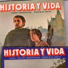 Coleccionismo de Revista Historia y Vida: LOTE DOS REVISTAS HISTORIA Y VIDA 147 Y 148 REY ARTURO Y BARCOS NEGREROS SUMARIO EN FOTO. Lote 252341525