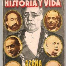 Coleccionismo de Revista Historia y Vida: HISTORIA Y VIDA. Nº 118. AZAÑA JUZGA A SUS MINISTROS. ENERO, 1978. (T/19). Lote 255993975