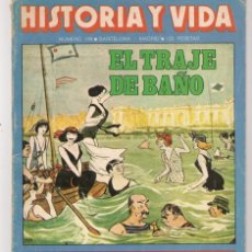Coleccionismo de Revista Historia y Vida: HISTORIA Y VIDA. Nº 149. EL TRAJE D BAÑO. AGOSTO 1980. (T/20). Lote 256011580