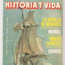 Coleccionismo de Revista Historia y Vida: HISTORIA Y VIDA. Nº 192. LA BATALLA DE MENORCA. MARZO 1984. (T/20). Lote 256014030