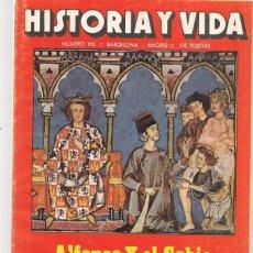 Coleccionismo de Revista Historia y Vida: HISTORIA Y VIDA. Nº 195. ALFONSO X EL SABIO. JUNIO 1984. (T/20). Lote 256015045