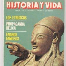 Coleccionismo de Revista Historia y Vida: HISTORIA Y VIDA. Nº 199. LOS ETRUSCOS. OCTUBRE 1984. (T/20). Lote 256015970