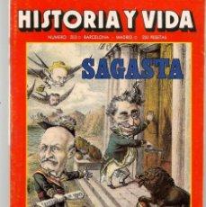Coleccionismo de Revista Historia y Vida: HISTORIA Y VIDA. Nº 203. MARÍA DE MOLINA. FEBRERO, 1985. (T/20). Lote 256157505