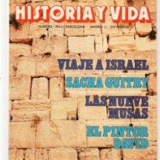 Coleccionismo de Revista Historia y Vida: HISTORIA Y VIDA. Nº 206. VIAJE A ISRAEL. MAYO, 1985. (T/20). Lote 256158290