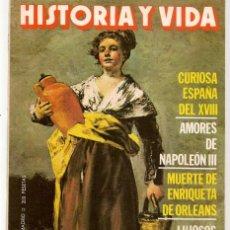 Coleccionismo de Revista Historia y Vida: HISTORIA Y VIDA. Nº 211. CURIOSA ESPAÑA DEL XVIII. OCTUBRE, 1985. (T/20). Lote 256159225