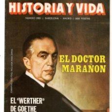 Coleccionismo de Revista Historia y Vida: HISTORIA Y VIDA. Nº 230. EL DOCTOR MARAÑÓN. MAYO, 1987. (T/20). Lote 256161150