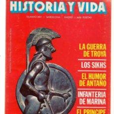 Coleccionismo de Revista Historia y Vida: HISTORIA Y VIDA. Nº 231. LA GUERRA DE TROYA. JUNIO, 1987. (T/20). Lote 256161295