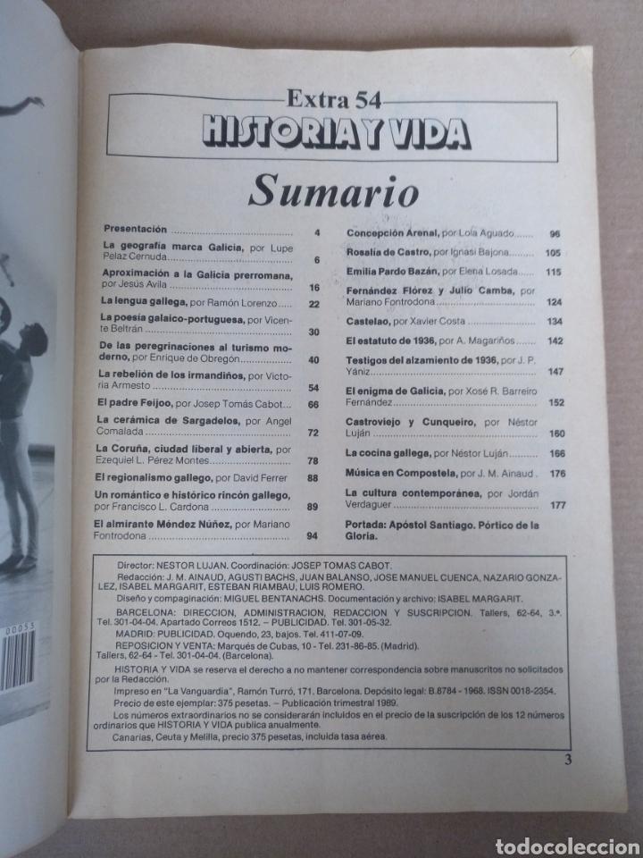 Coleccionismo de Revista Historia y Vida: Galicia. Revista Historia y vida extra 54. Publicación trimestral 1989 - Foto 2 - 262581680
