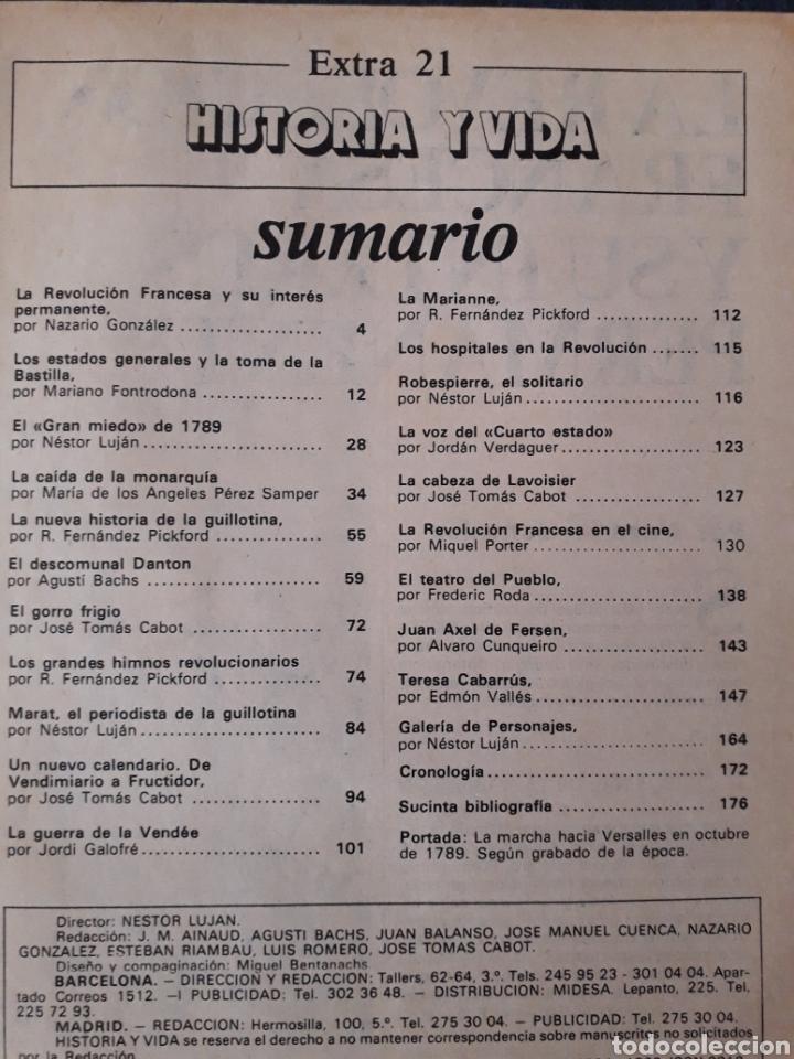 Coleccionismo de Revista Historia y Vida: HISTORIA Y VIDA, EXTRA 21 - LA REVOLUCION FRANCESA, MARAT, DANTON, ROBESPIERRE, LA BASTILLA... - Foto 2 - 267329689