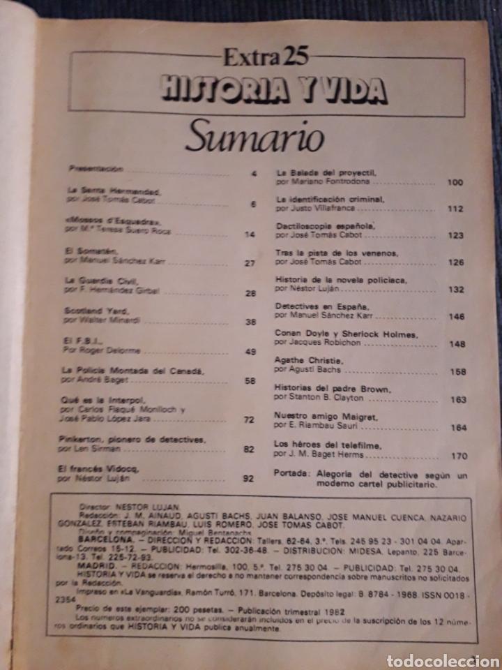 Coleccionismo de Revista Historia y Vida: REVISTA HISTORIA Y VIDA - EXTRA Nº 25 LA LUCHA CONTRA EL CRIMEN - Foto 2 - 267334144