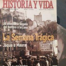 Coleccionismo de Revista Historia y Vida: HISTORIA Y VIDA , Nº 376: SEMANA TRAGICA , 30 AÑOS LLEGADA HOMBRE A LA LUNA, LOS LAPONES, ETC. Lote 267346014