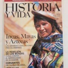 """Coleccionismo de Revista Historia y Vida: REVISTA """"HISTORIA Y VIDA"""" (Nº 385–ABRIL 2000). INCAS, MAYAS Y AZTECAS. MUY BUEN ESTADO DE CONSERVACI. Lote 267364819"""
