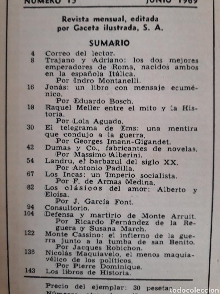 Coleccionismo de Revista Historia y Vida: HISTORIA Y VIDA. NUMERO 15. JUNIO 1969 - Foto 2 - 267442324